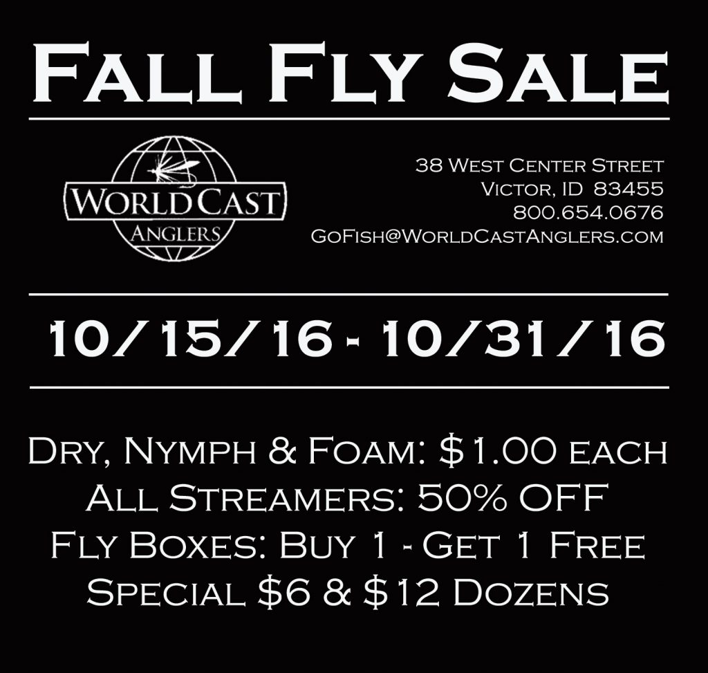 WorldCast Anglers $1 Fall Fly Sale